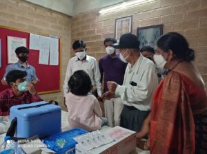 Special Kids being vaccinated